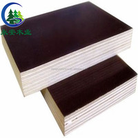Black Brown Melanine Construction Plywood And