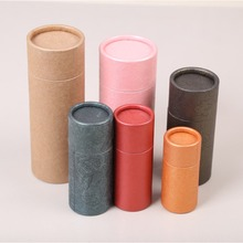 Luxury empty custom lipstick tube round paper lip tubes recycle lip balm container