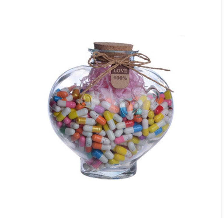 2017 hot sale 500ml airless clear glass candy jar with metal cap Wholesale