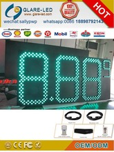 Large outdoor gas station LED price pylon advertisign sign