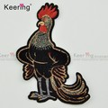 Fashion rooster animal wholesale embroidered patches for hat cloth WEFC-067