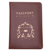 Fashion New Passport Holder Travel Passport Cover Card Case Brown