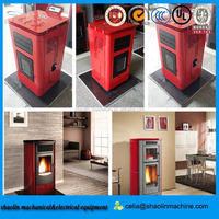 high efficient wood pellet stove china/ 24kw radiators pellet stove/ wood burning stove