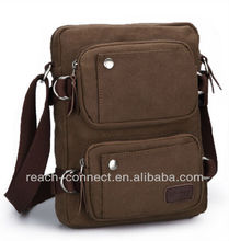 top canvas business menssenger bag brown
