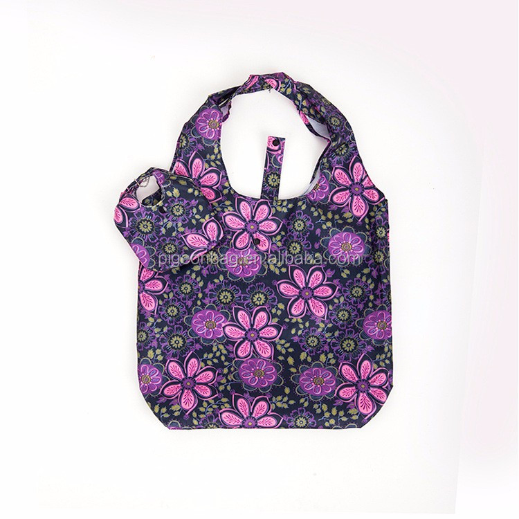 custom reusable customizable customised shopping bag flat bottom foldable shopping bag in pouch full color printing tote bag
