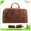 Classic retro large crazy horse leather travel man bag