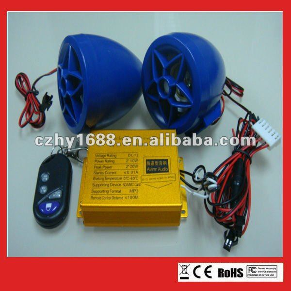 12V Card motorcycle hi-fi mp3 with Remote control