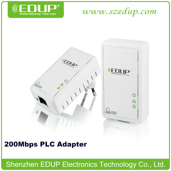 200Mbps PLC Home Plug Powerline Adapter