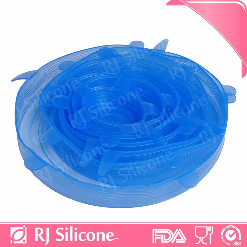 RJSILICONE silicone bowl covers reusable silicone stretch storage lids flexible silicone lids