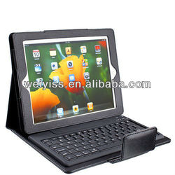 The New Black Leather Case Cover Built-in Bluetooth Keyboard for Ipad 2 and 3