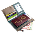 High Quality Full Grain Leather Custom Passport Holder With Ticket Card Pockets