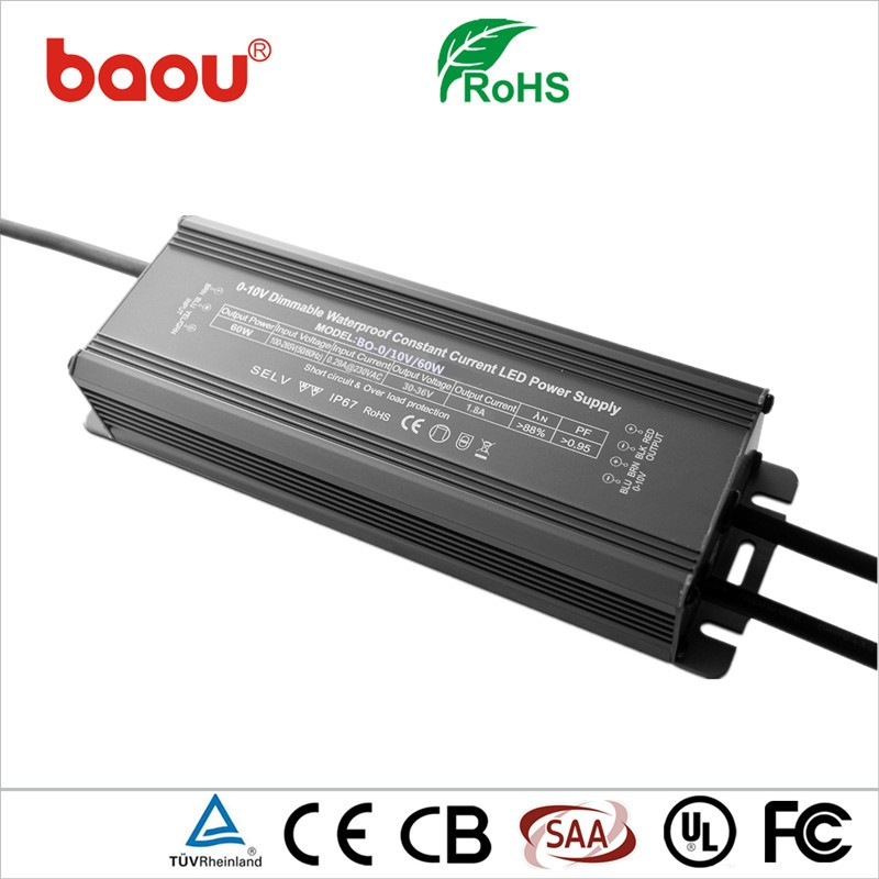 Baou waterproof constant current 60w 2100ma led driver