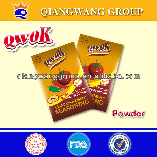 10G/SACHET QWOK HALAL TOMATO FLAVORED SEASONING POWDER BOUILLON POWDER STOCK POWDER