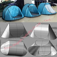Waterproof Single Layers 2 Person Pop Up Tent