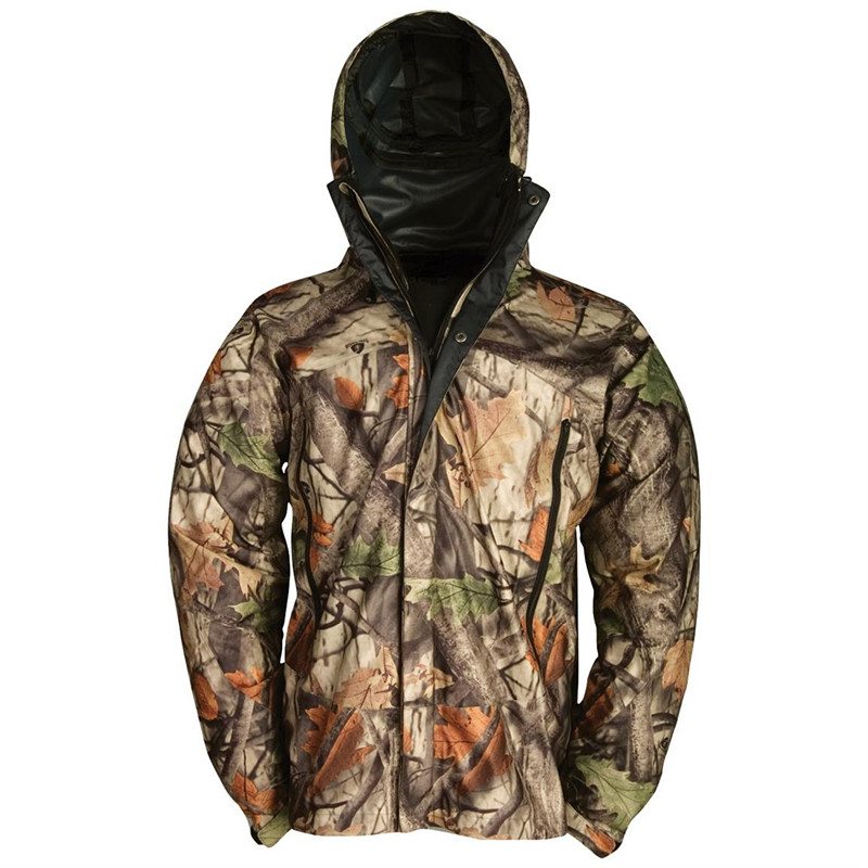 Outdoor camouflage hunting rain jacket