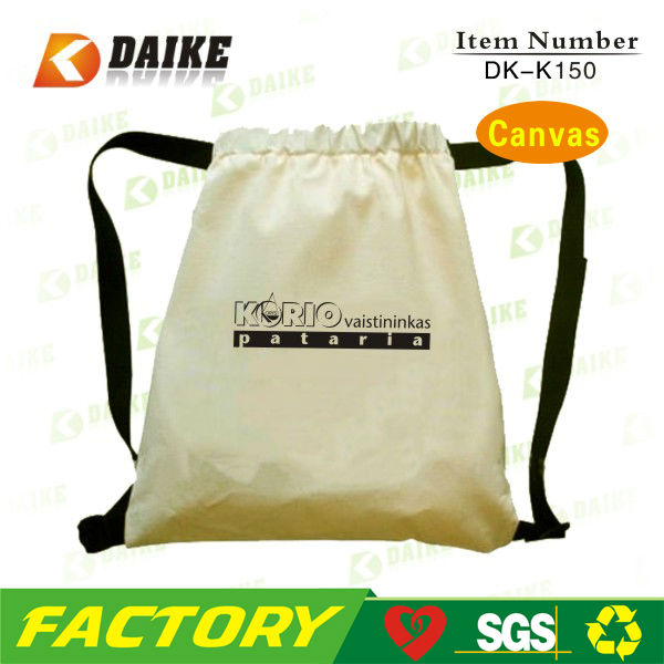 Factory Canvas Customized New Design backpack drawstring