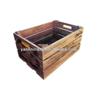 Wooden crate box for home decoration
