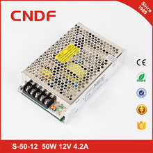 CNDF high quality 50w single output high voltage dc power supply led 12v 4.2a switching power supply