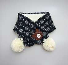 Newest knitted christmas design kid winter warm baby Christmas scarf