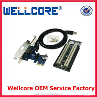 PCIe to Dual PCI bus adapter card -- Suitable for PCIE X1 X4 X8 X16 slot