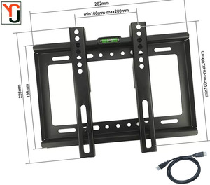14 ''- 42'' TV WALL MOUNT LOADING CAPACITY 25 KG BRACKET HOLDER FLAT PANEL LCD LED PLASMA FIXED TV MOUNT
