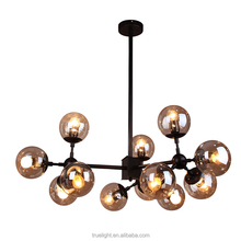 modern large luxury lighting lamps chandelier hand blown glass pendant for hotel