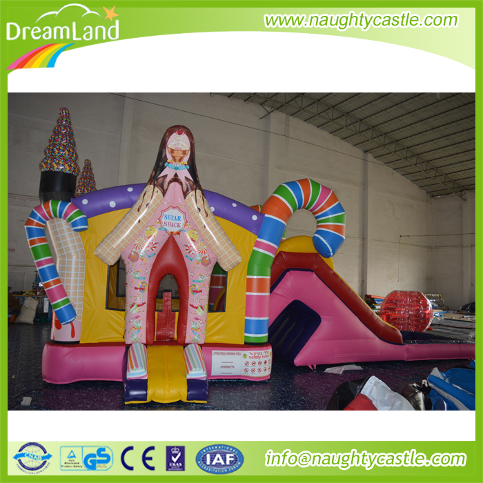 inflatable candy house,0.55mm PVC material inflatable combo for sale,inflatable candy slide