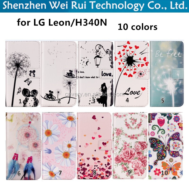 new products mobile phone fashion tpu wallet cover for lg Leon H340N case
