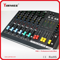 New design small audio digital karaoke echo console mixer YM80-YARMEE