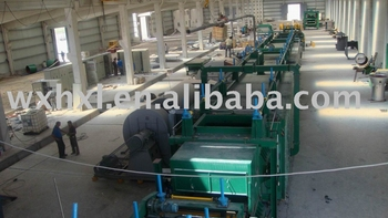 Basalt wool production line