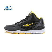 ERKE 2015 high quality black brand basketball shoes for basketball training shoes with high ankle protective in stock