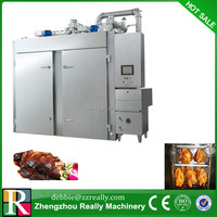 New style!! Automatic Hydraulic or Gear Sausage fish meat smoked furnace curing oven,meat smoking equipment