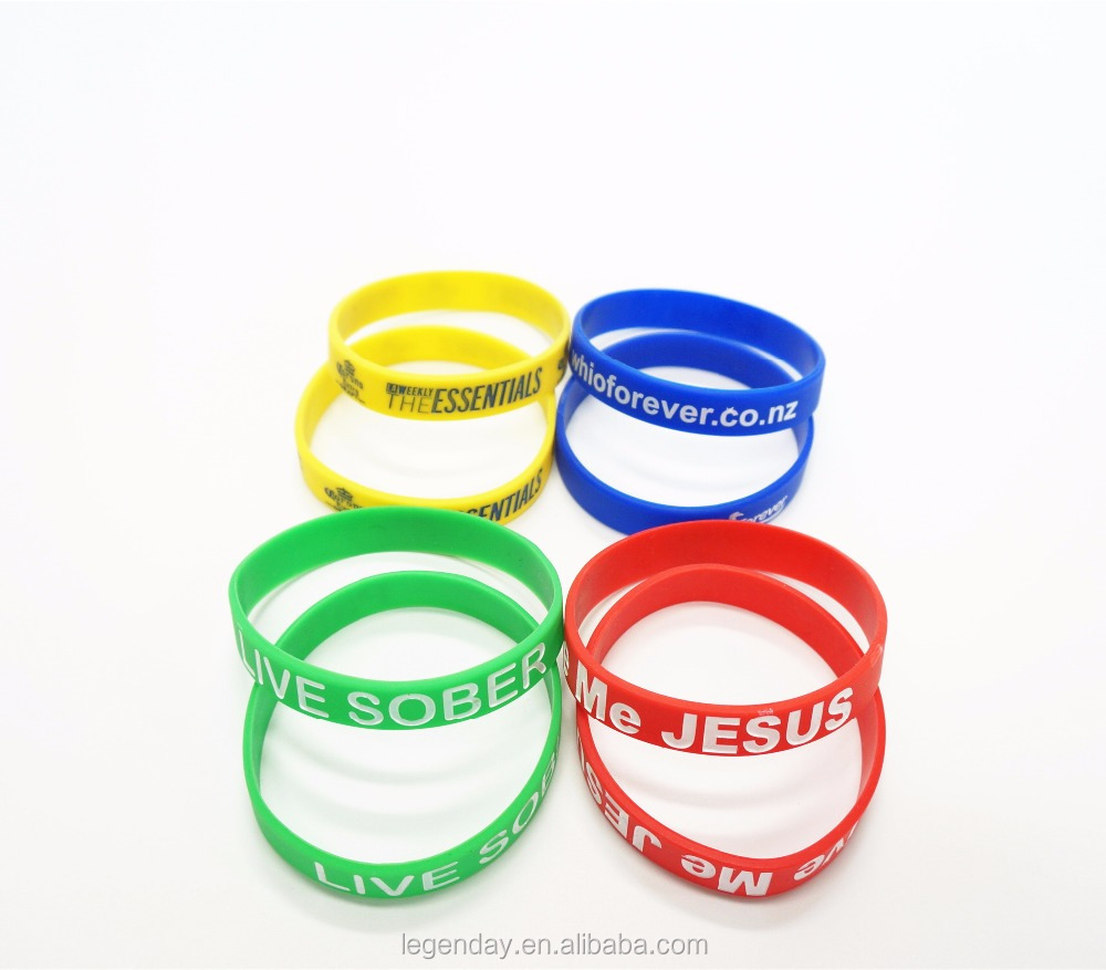 Cheap Custom Design Elastic Silicone Bracelet Wrist Band