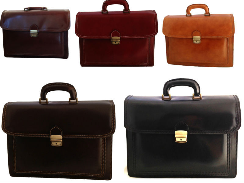 Made in Italy bag handbag man briefcase leather workbag work laptop case 7008