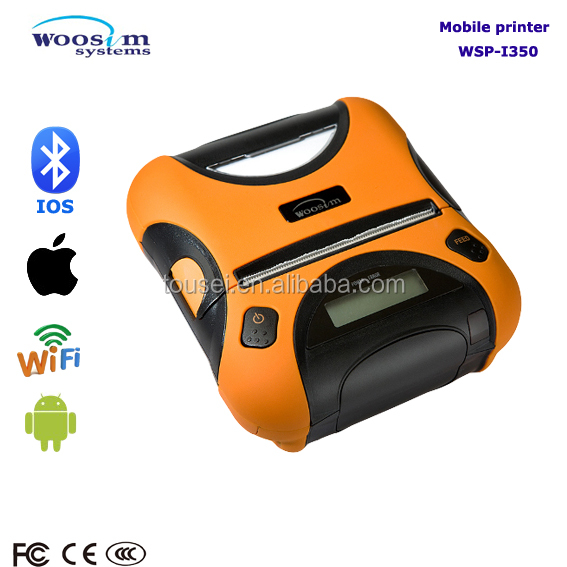 WOOSIM WSP-i350 rugged ip54 mobile bluetooth receipt printer for ipad