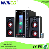 With mic incput subwoofer 2.1 multimedia active speaker system