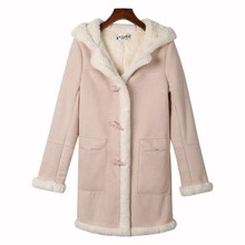 Redesign Chic Hooded Lovely Girl Warm Woolen Overcoat