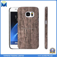 Fashional Style Wood Grain Hard PU Leather Phone Back Case Cover for LG K7 K10
