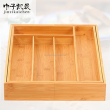 Tableware Kitchware Good Helper Bamboo Expandable Cutlery Tray Box