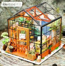 Wholesale Creative Gifts Pure Hand Assembled Flower House Toy 3d Wooden Puzzle House
