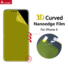 Case Friendly 3D Curved TPU Screen Protector for IPhone X Full Screen Cover Anti-Shcok Screen Film