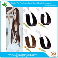 Factory price Colored wigs two clip hair one piece full head hair piece single color synthetic straight clip hair