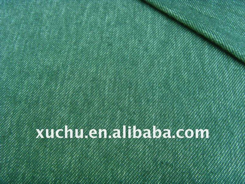 shining back side twill poly spandex yarn dyed denim fabric