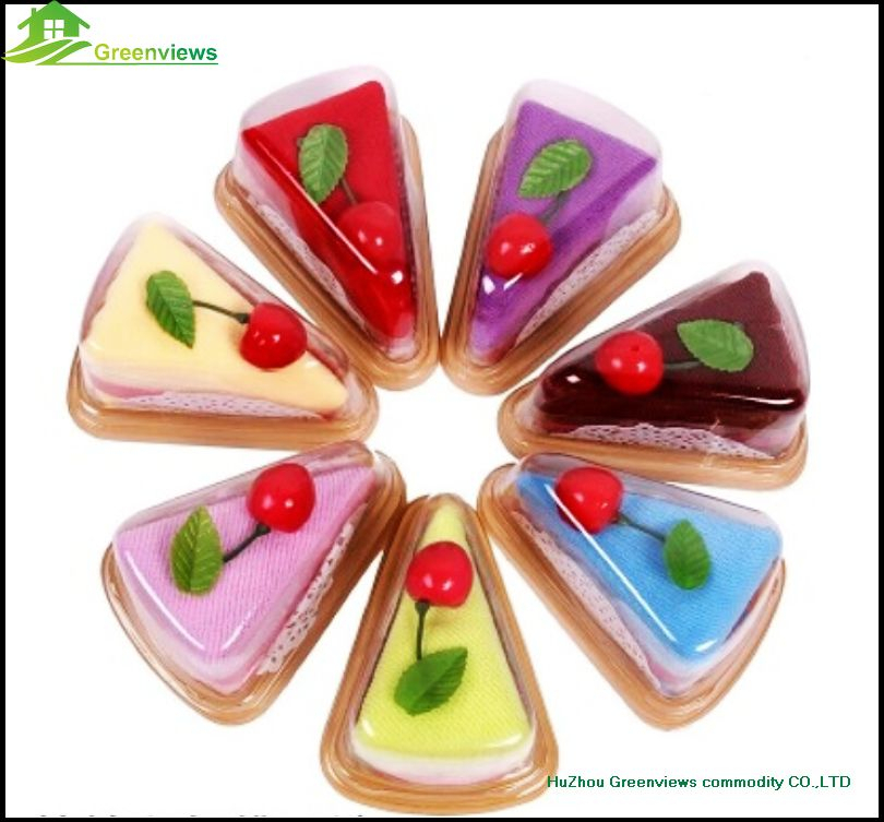 Kitchen cake shape towel cakes cotton mini gift towel christmas gift packing towel cake GVCT2006