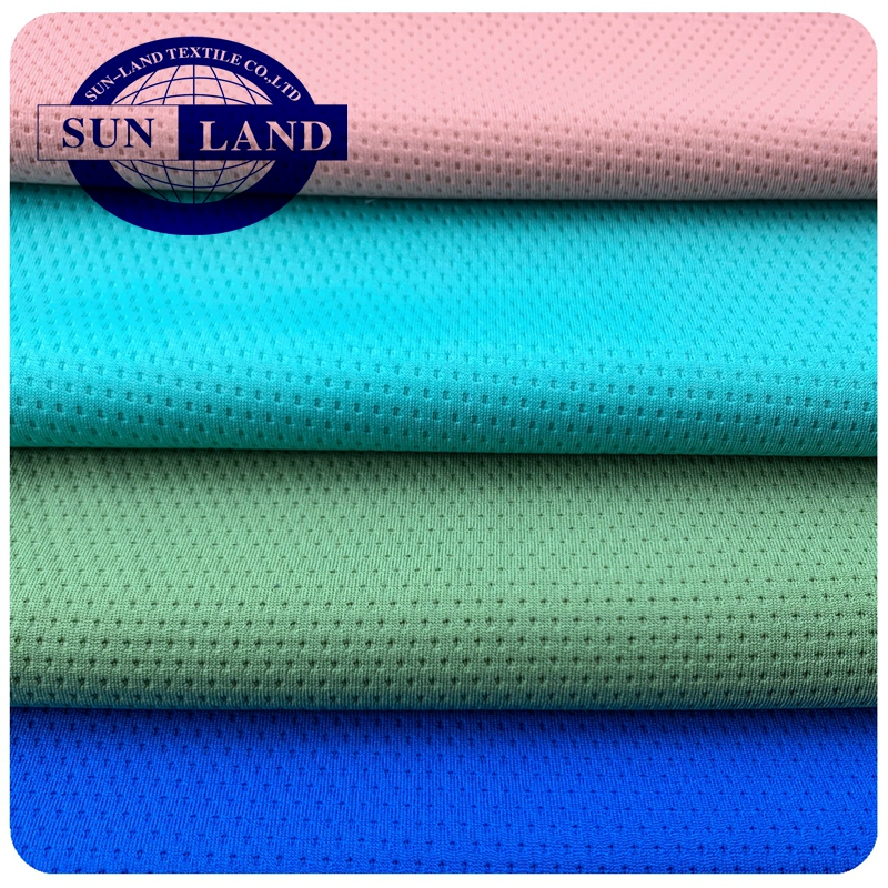 travel u-shape neck pillow cover fabric 100% polyester quick-dry and wicking soft hand feel knitting honeycomb mesh cloth