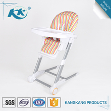 New product cheap wholesale stackable height adjustable plastic 3 in 1 child dining eating feeding baby high kid chair