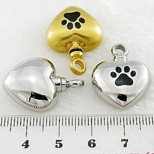 316L stainless steel metal heart pet wholesale cremation jewelry