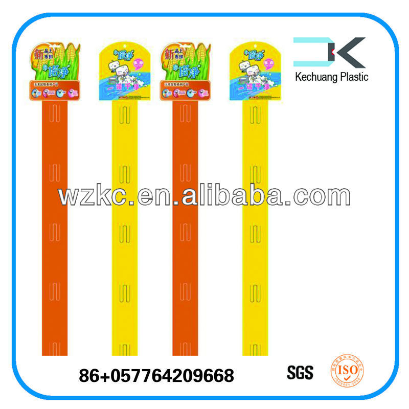 First Class ! High Quality Supermarket plastic PP Hanging clip strip display