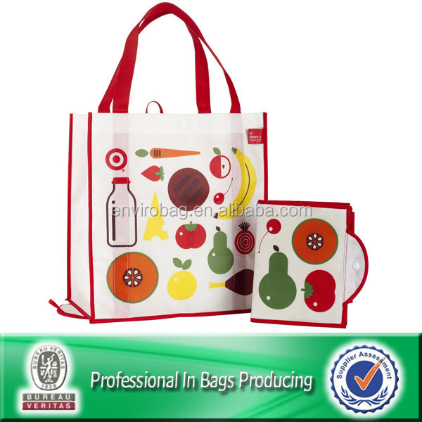 Lead Free Non Woven Custom Reusable Folding Grocery Bags