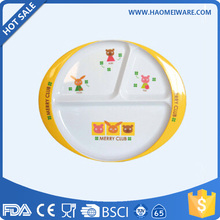 BPA free lovely printed melamine custom kids trays